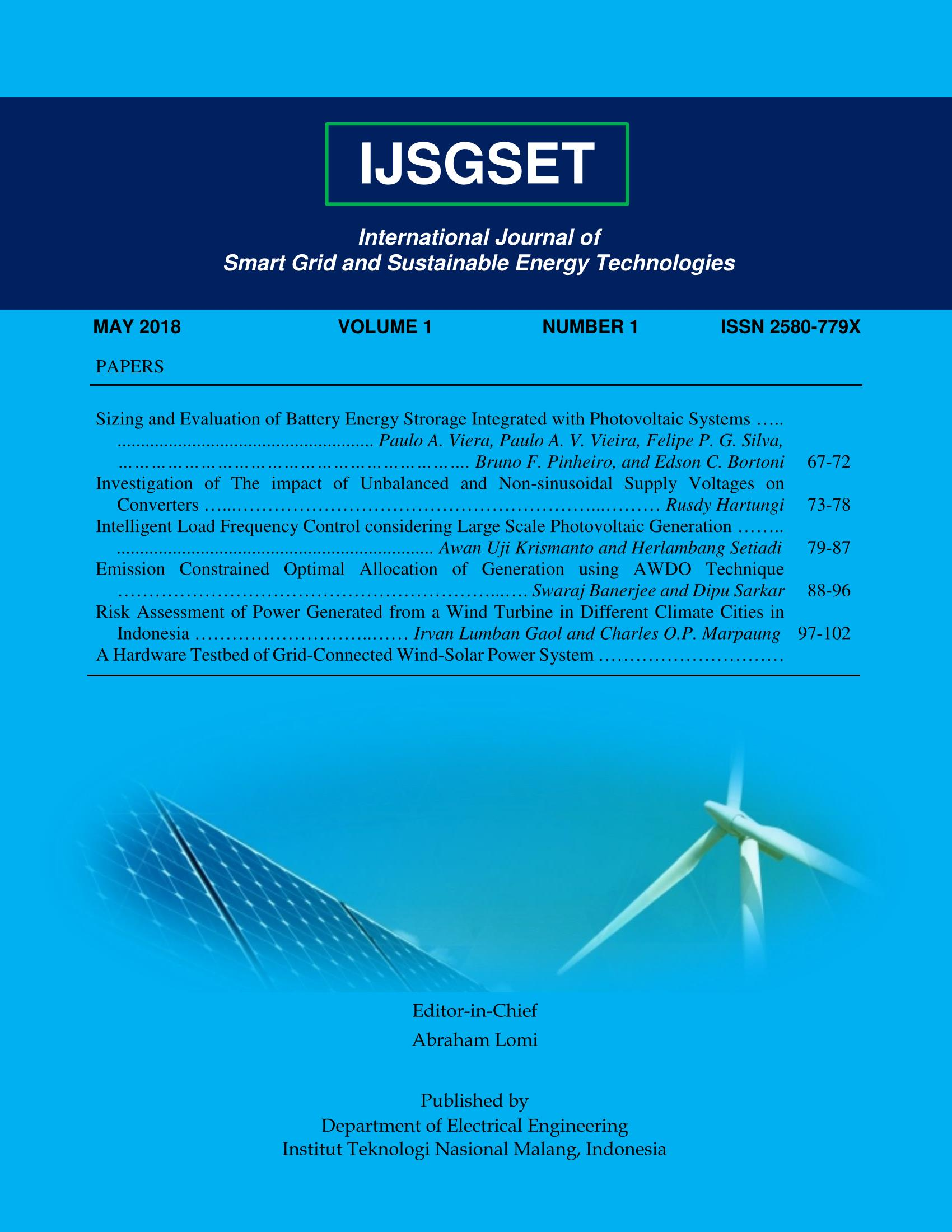 Intelligent Load Frequency Control Considering Large Scale Photovoltaic Generation International Journal Of Smart Grid And Sustainable Energy Technologies